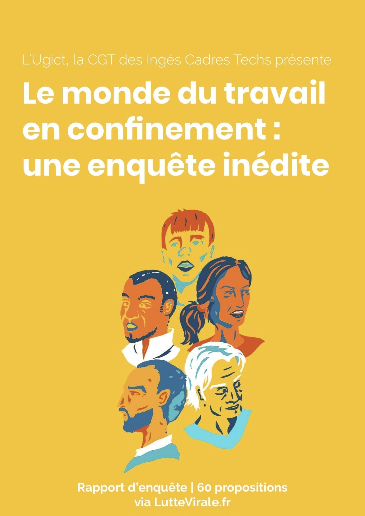 couverture illustration enquete travail confinement covid