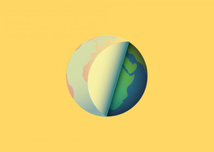 La planète Terre étiquette jaune