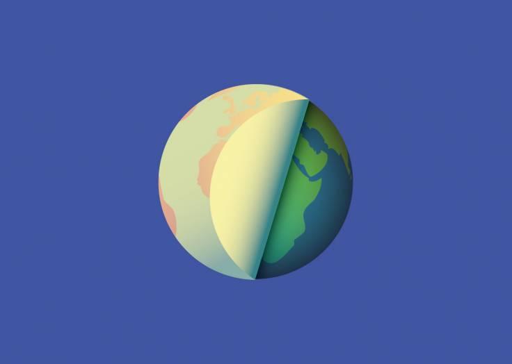 La planète Terre étiquette bleue