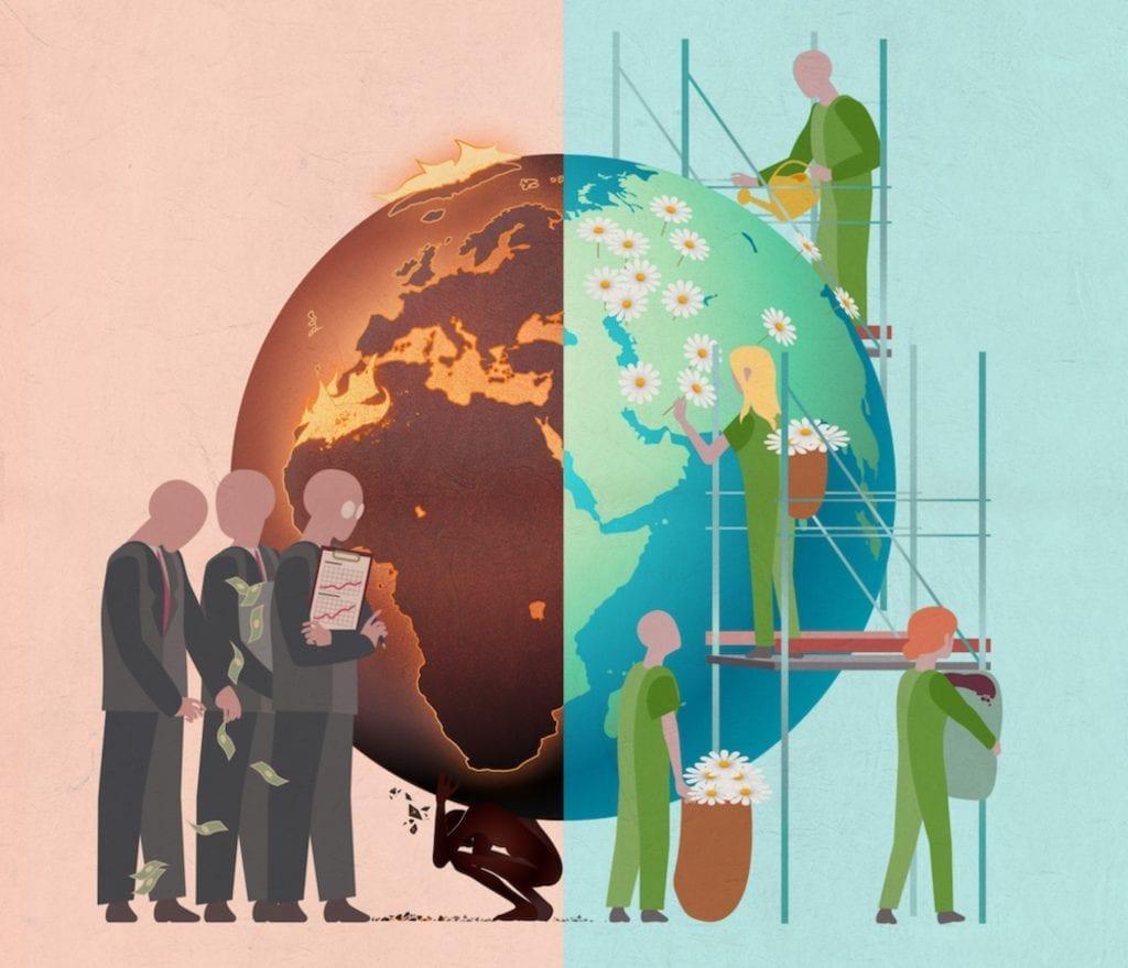 illustration planète écologie cgt